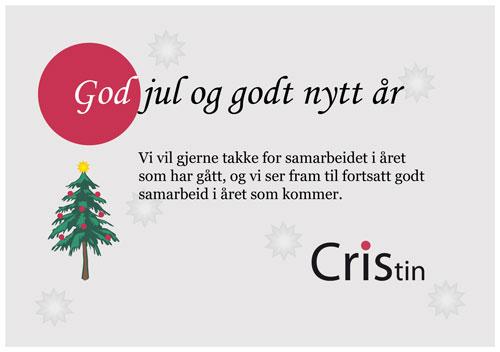 Redusert bemanning i julen - Cristin